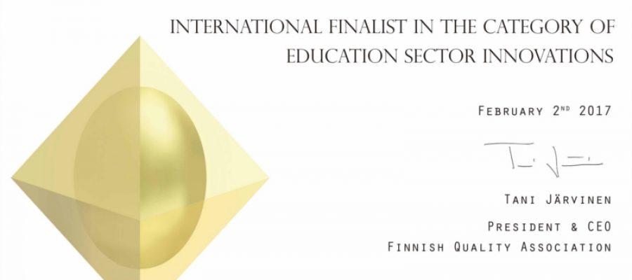 Reconocimiento Internacional para el proyecto de Innovación que desarrollamos