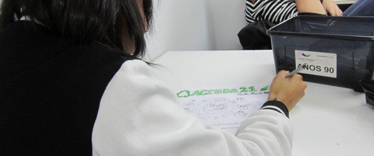 Haciendo el logo de Agenda 21