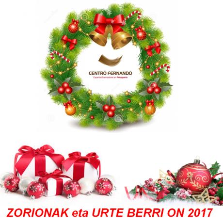 GABON ZORIONTSUAK eta URTE BERRI ON 2017